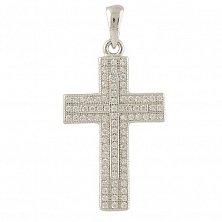 Серебряный крестик Лилиан с фианитами