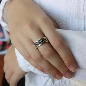 Серебряное кольцо с золотыми вставками Каролина BGS--548/к ч