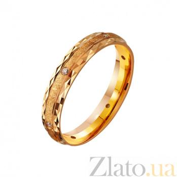 Золотое обручальное кольцо Любовное послание TRF--4121040