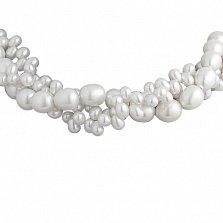 Жемчужное ожерелье Гаррати в три нити с серебряным замком