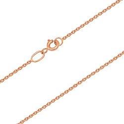 Золотая цепочка Форза плоского якорного плетения в красном цвете металла, 1мм