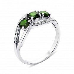 Серебряное кольцо с кварцем и фианитами 000133190