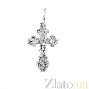 Серебряный крестик Символ духа 000028506