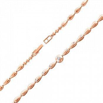 Браслет из красного золота с бриллиантами 000136822