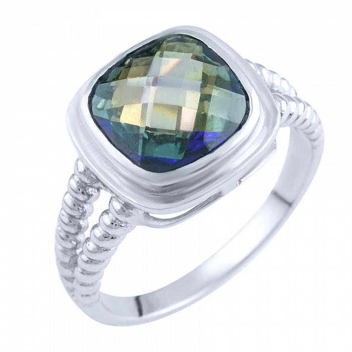 Кольцо из серебра Мэгги с топазом мистик 000057778