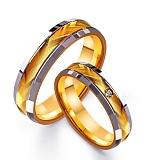 Золотое обручальное кольцо Фееричное чувство с фианитом
