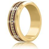Мужское обручальное кольцо из желтого золота Тайна: Вдохновение