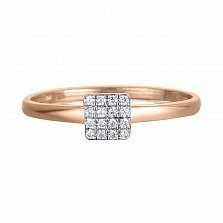 Кольцо из красного золота с бриллиантами Соледад