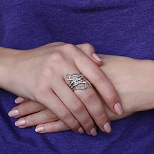 Золотое кольцо Дороги жизни с бриллиантами