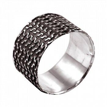 Кольцо из серебра Track с чернением 000091351