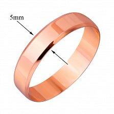 Обручальное кольцо из красного золота Вечная любовь
