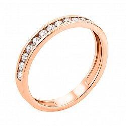 Кольцо в красном золоте с кристаллами циркония 000054215