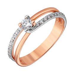Кольцо в красном золоте Илария с фианитами