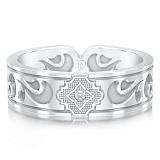 Мужское обручальное кольцо из белого золота с бриллиантом Во сне и наяву