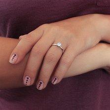 Серебряное кольцо с цирконием Маша