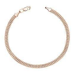 Золотой браслет Вариати в плетении восьмерка, 4мм