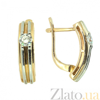 Золотые серьги с бриллиантами Алия ZMX--ED-6259_K
