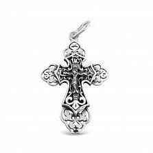 Серебряный крестик Благостный