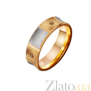 Золотое обручальное кольцо Ты моя душа с фианитами TRF--4121092