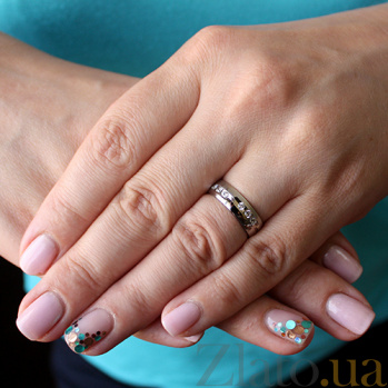 Золотое обручальное кольцо Свет любви с бриллиантами TRF--4221075н