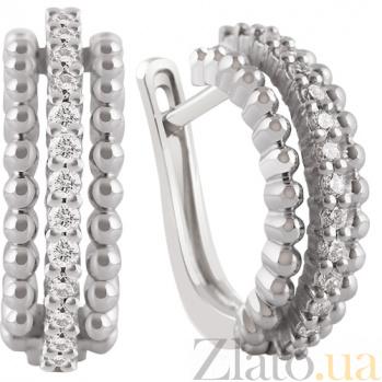 Золотые серьги с бриллиантами Снежана KBL--С2502