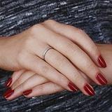 Кольцо из красного золота Признание с бриллиантами