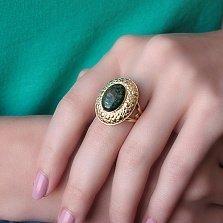Золотое кольцо Палладин с опалом