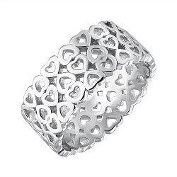 Кольцо из серебра Узор любви в стиле Тиффани