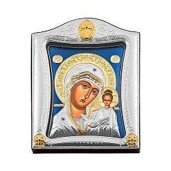 Икона Казанская Божия Матерь с серебрением 000139807