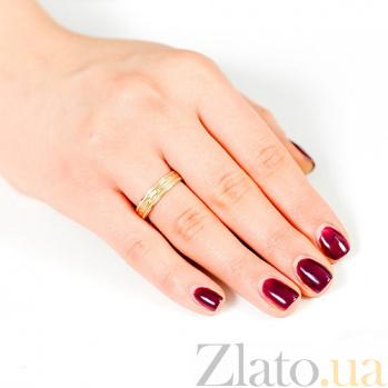Золотое обручальное кольцо Первая любовь 000001658