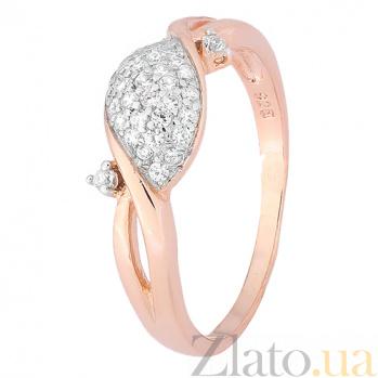 Кольцо из серебра Элли с позолотой и фианитами 000028395