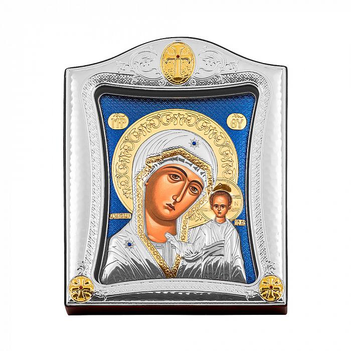 Икона Казанская Божия Матерь с серебрением 000139807 000139807