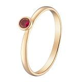 Кольцо в красном золоте Алисия с рубином