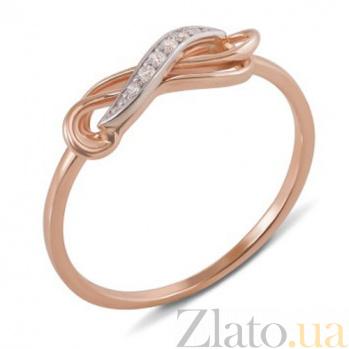 Золотое кольцо с фианитами Вилора 12804 c