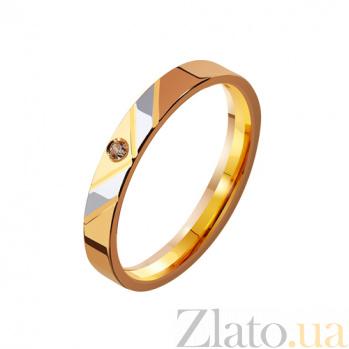 Золотое обручальное кольцо с фианитами Победа TRF--4121108