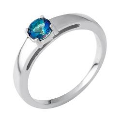 Серебряное кольцо с топазом 000074553