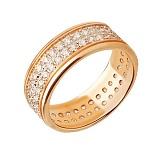 Кольцо из желтого золота Фидес с фианитами