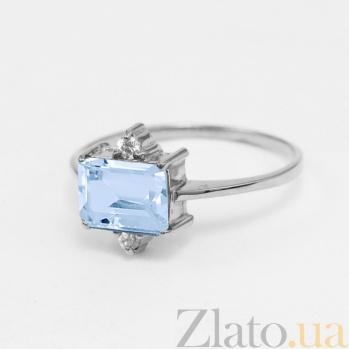 Золотое кольцо с топазом и фианитами Мадлен VLN--112-943-1*