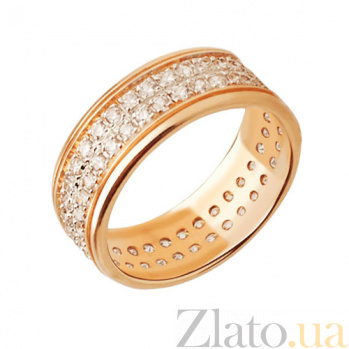 Кольцо из желтого золота Фидес с фианитами VLT--ТТ195