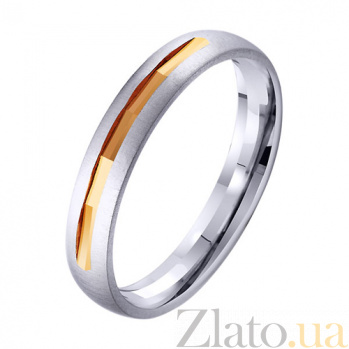 Золотое обручальное кольцо Счастливая пара TRF--411956