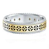 Обручальное кольцо Калейдоскоп Любви: Карусель фантазий из желтого и белого золота с бриллиантами