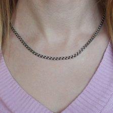 Серебряная цепь Мэриэнн с чернением, 4мм