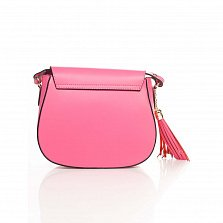 Кожаный клатч Genuine Leather 6209 розового цвета с клапаном на магните и плечевым ремнем