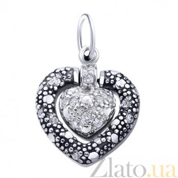 Серебряный подвес Сердце AUR--74271б