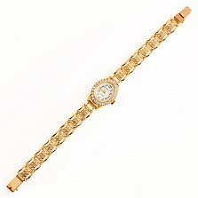 Золотой браслет для часов Аделаида