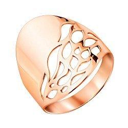 Кольцо из красного золота с перфорацией 000123548