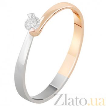 Золотое кольцо с бриллиантом Эстрелла KBL--К1997/крас/брил