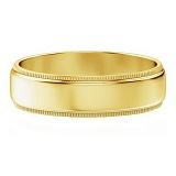 Мужское обручальное кольцо из желтого золота Чистое намерение