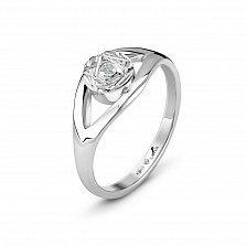 Серебряное кольцо Полярное сияние с бриллиантом