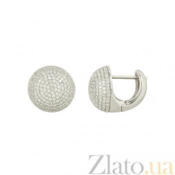 Золотые серьги с бриллиантами Норин 1С033-0389